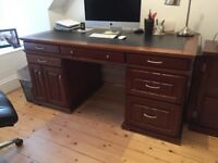 Solid Wood Desk with Leather Top - MOVING SALE