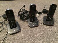 BT Aura 1500 triple cordless phone