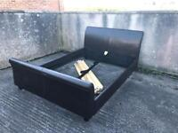 King sized leather bed
