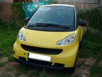 SMART FORTWO *** gorgeous yellow/black *** just 43,500 miles