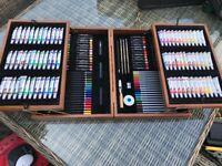 Art and crafts Set. Paints, pencils etc Unused