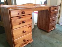 Pine dressing table/desk