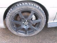 Subaru Impreza Innovit Alloy Wheels & Tyres 5x100 WRX Turbo 2000 Sti