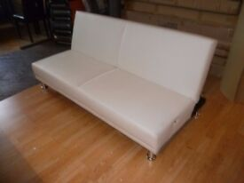 White Supra leather Sofa Bed 2/3 Seater 2 Sleeper