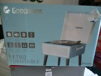"""""""NEW"""" BOXED """"RETRO"""" RECORD TURNTABLE (Brought up to date, READ description)"""