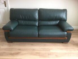 Leather 3-1-1 sofa suite