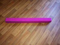 Pink suede folding gymnastics beam. Excellent condition.