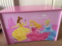 Wooden princess toy box