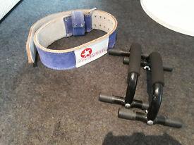 Squat belt and Chest press handles