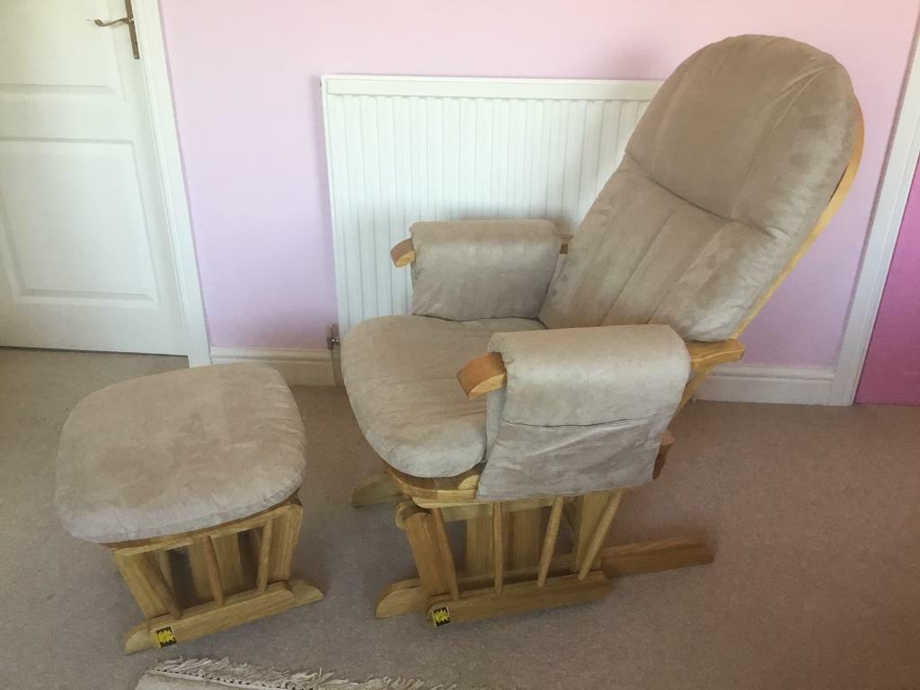 Tutti Bambini Glider Chair And Stool Feeding Chair In Leamington Spa Warwickshire Gumtree