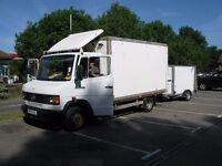 Mercedes 609d Box Truck, Box trailer, Market stall and equipment