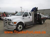 2007 Ford F-750 XLT, PICKER & SERVICE DECK!!!