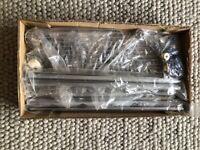 Chrome Shower Organiser Pole - Shower Tidy - Telescopic