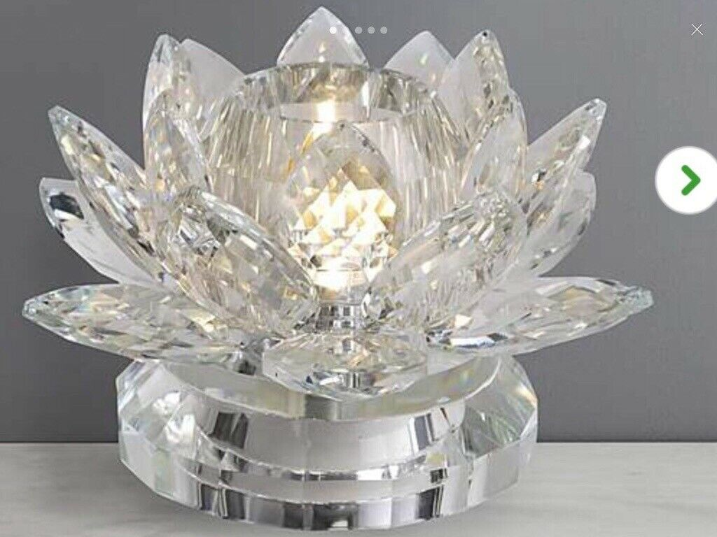 DORMA CASSALI LOTUS CRYSTAL TABLE LAMP