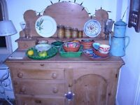 Antique pine sideboard / dresser - not too large and would suit most rooms of the house.