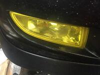 honda accord type r facelift fog lights oem ch1 h22a7 yellow 01-02
