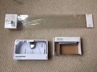 Ikea Bathroom Accessories // Shelf, Towel Ring Holder, Toilet Roll Holder