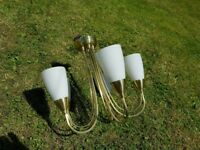 2 x Brass Ceiling Light