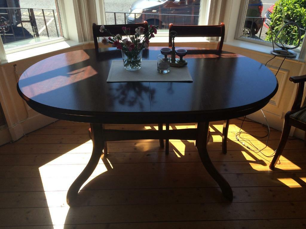 Dark wood oval dining table in Lochend Edinburgh Gumtree : 86 from www.gumtree.com size 1024 x 768 jpeg 92kB