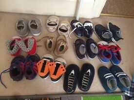 X12 pairs of 6-9 months boys shoes