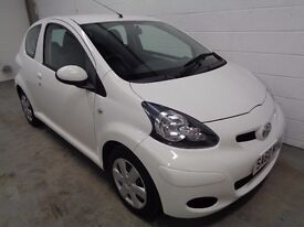 TOYOTA AYGO , 2010/60 REG , ONLY 45000 MILES + HISTORY , £20 ROAD TAX , LONG MOT , FINANCE, WARRANTY
