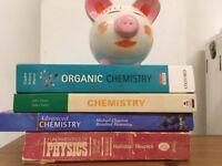 BOOK BUNDLE- Chemistry & Physics BOOKS - University, A-level and International Baccalaureate level