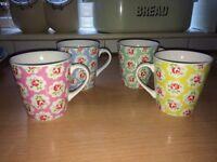Cath KIdston mugs-set of 4
