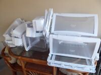 AMERICAN FRIDGE FREEZER drawers and shelves. FULL SET. Excellent condition. From Daewoo. Original