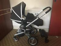 MUST GO Silver Cross Surf Pushchair + buggy board