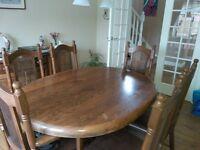 Beautiful Dutch Oval Oak Dining Table