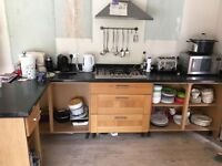Cook and Lewis solid oak kitchen doors, selected base units and radiators