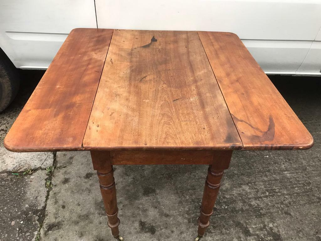 vintage drop leaf table with drawer FREE DELIVERY PLYMOUTH AREA