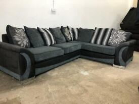 Grey dfs corner sofa, couch, suite, furniture 🚛🚚