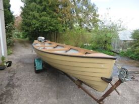 Darragh 17 foot fishing boat with engine and trailer