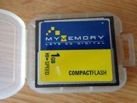2X COMPACT FLASH MEMORY CARDSC (1X 1GB- 1X 256MB)