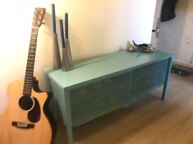 Blue Metal Storage Unit and TV stand