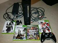 XBOX 360 120gb hard drive, Controller, Accessories and 4 Games