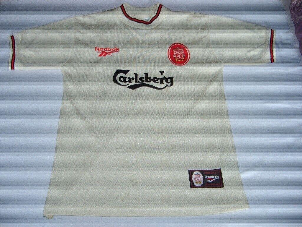 c8b548a1d Vintage Retro Liverpool Football Club LFC 96 97 season away jersey shirt