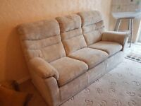 G Plan 3 seater sofa & reclining chair