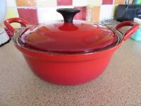 Le Creuset - small cast iron pan with lightweight lid