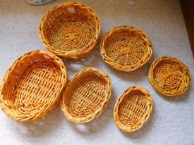 2 set of nesting baskets, with 3 sizes in each. Hampers, raffle prize hampers, gift set, household.