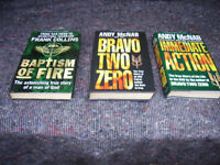 2 Andy McNab books + Frank Collins book