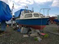 Clovic sea rider 22 fishing boat