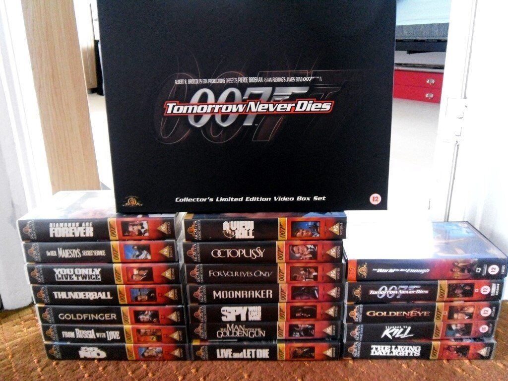 James Bond VHS collection - 19 movies