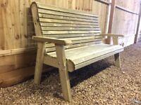 3 seater pressure treated garden bench