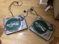 Technics SL 1200 Quartz turntables (x2) with concorde stylus