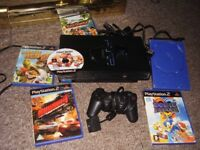 PLAYSTATION 2 WITH GAMES WITH STARWARS BATTLEFRONT 2