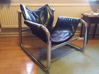 RARE Brazilian ALPHA Mid-Centruy retro Lounge Chair by Maurice Buke for Arkana