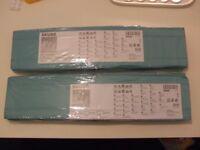 Ikea SKUBB organiser boxes - 2 packs - light blue colour. Brand new and unopened.