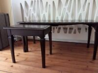 REDUCED PRICE STAG coffee table + matching partner table